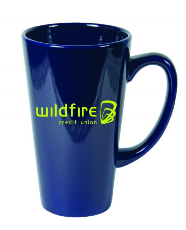 15 Ounce Solid Gloss Color Funnel Mug-3697
