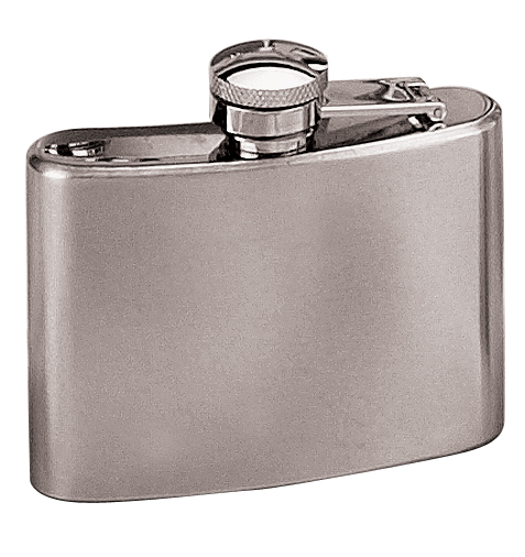4 oz. Stainless Steel Flask-0