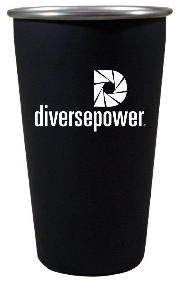 16 oz. Stainless Steel Pint with Matte Black Finish-0