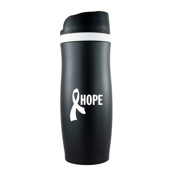 The Force Vacuum Sealed Thermal Double Walled Stainless Steel Travel Tumbler- 14 oz.-2274