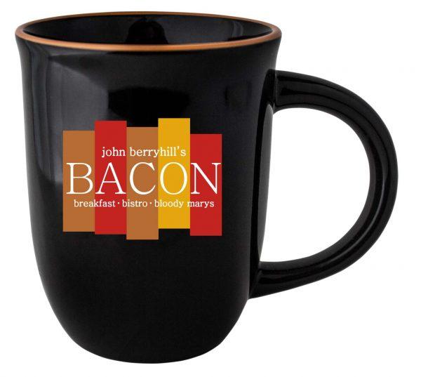 14 oz. | Black Mug with Color Lip-2477