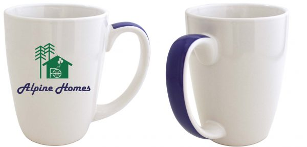 11 oz | White L.J. Bistro with Color Ribbon Handle-2537