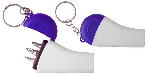 Mini Screwdriver Keychain with LED Light-2705