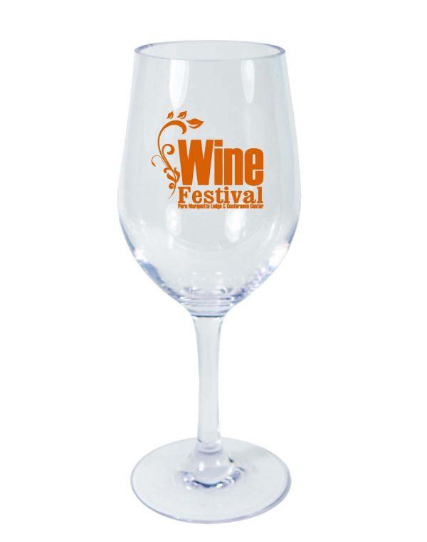 Acrylic Outdoor Drinkware 12 oz. Wine Glass-0