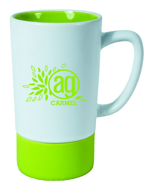 16 oz. White matte Mug with Color inside and Color Silicon Sleeve-3384
