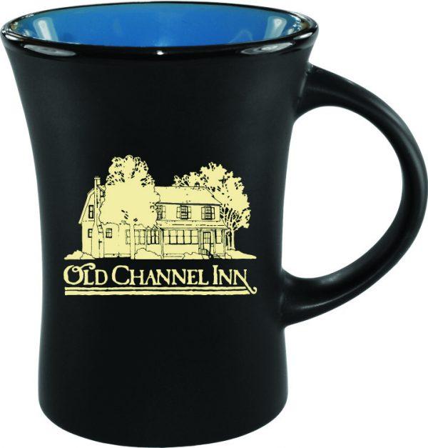 10 oz. Black Matte Mug with Colorful Inside-3219