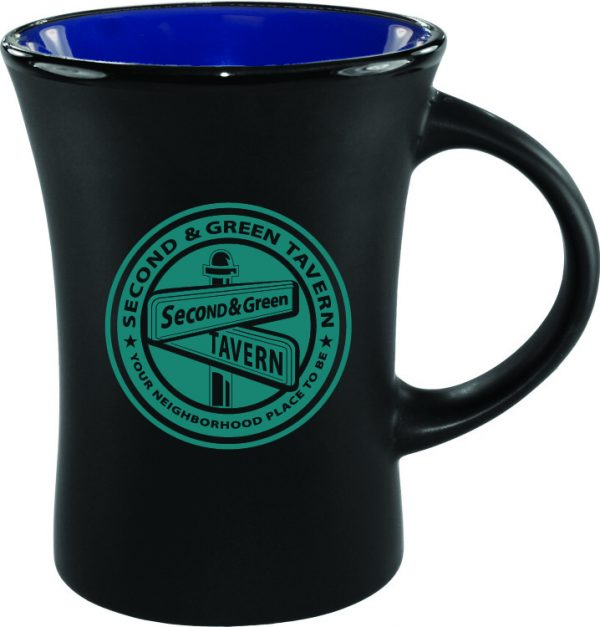 10 oz. Black Matte Mug with Colorful Inside-3220