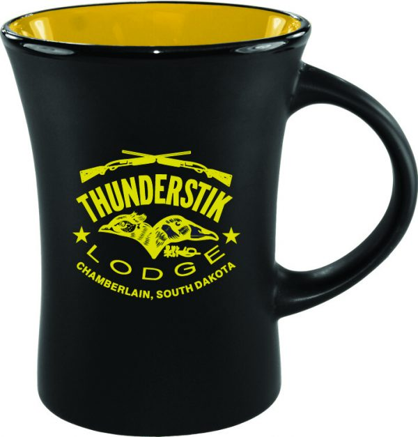 10 oz. Black Matte Mug with Colorful Inside-3222