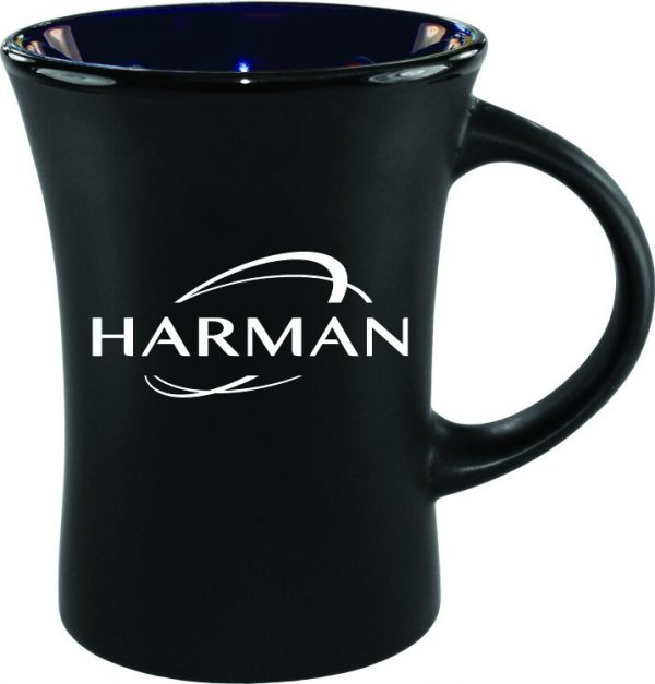 10 oz. Black Matte Mug with Colorful Inside-4438