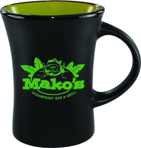 10 oz. Black Matte Mug with Colorful Inside-0