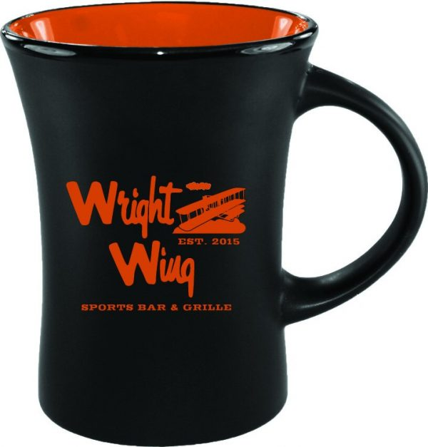 10 oz. Black Matte Mug with Colorful Inside-4439