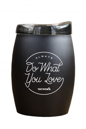 51316BKM- The Coconut 16 oz. Black MatteStainless Steel Stemless Wine-0