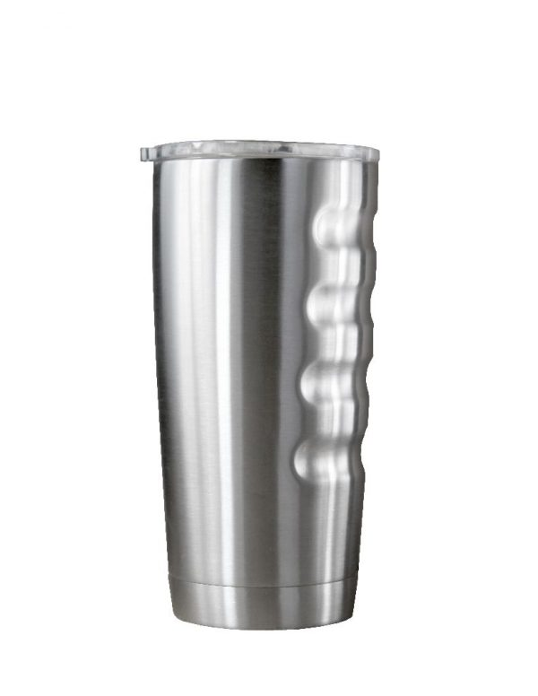 51317G- 20 oz.Vacuum Insulated Stainless Steel Tumbler with Finger Grips-4370