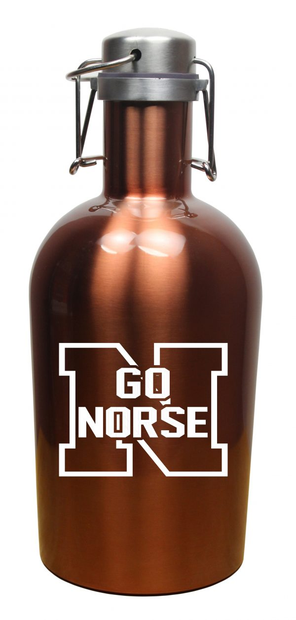 64 Ounce Colored Stainless Steel Growler-4558