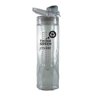 24 oz. Clear Single Walled Hydration Bottle with Infusion Core- Clearance -0